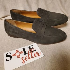 J Crew  Ryan penny loafers grey Leather shoes 9.5
